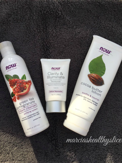 NOW cleanser and moisturizers