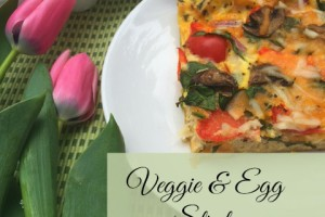 Welcome Spring with this Veggie & Egg Strata