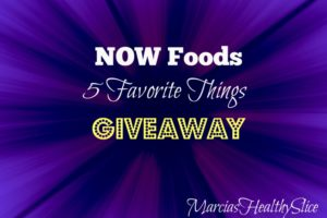 NOW Foods Favorite Things Giveaway